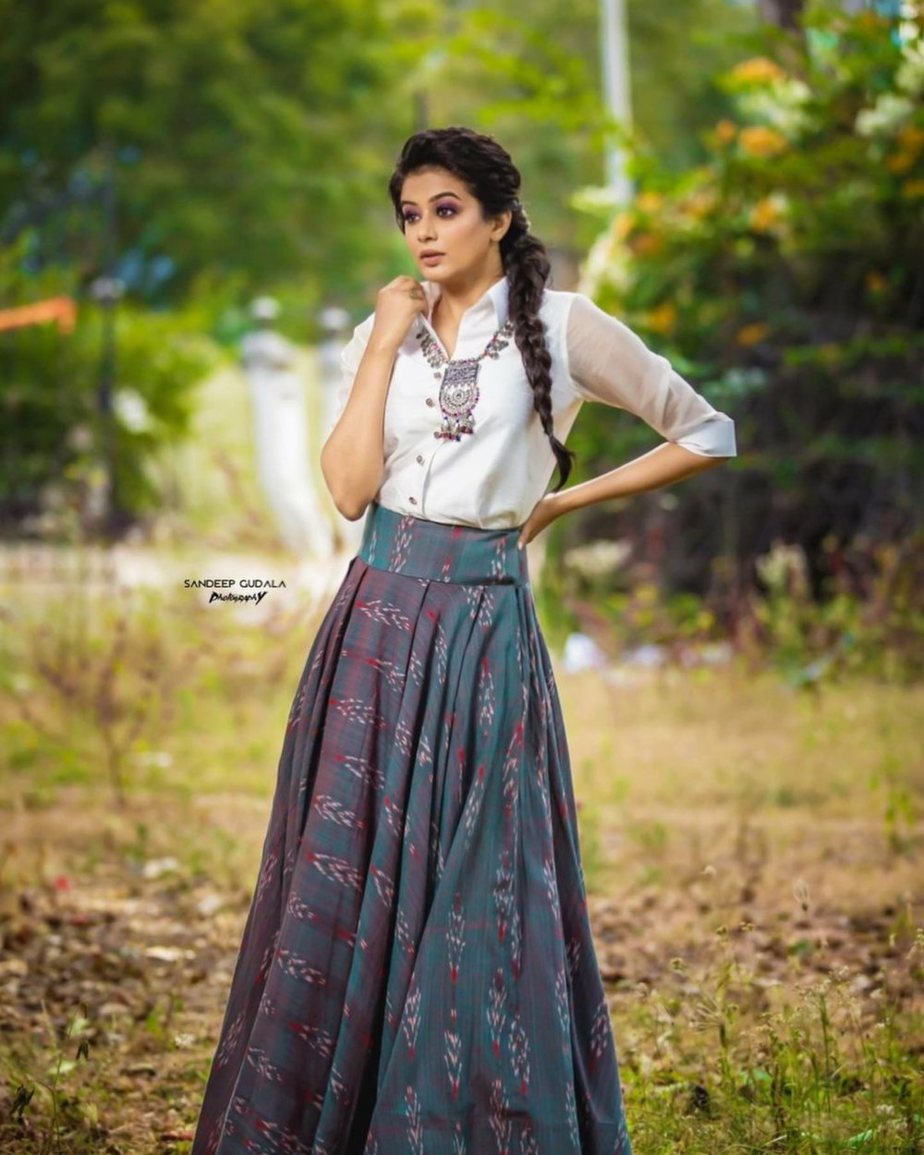 Priyamani in an indo-western outfit