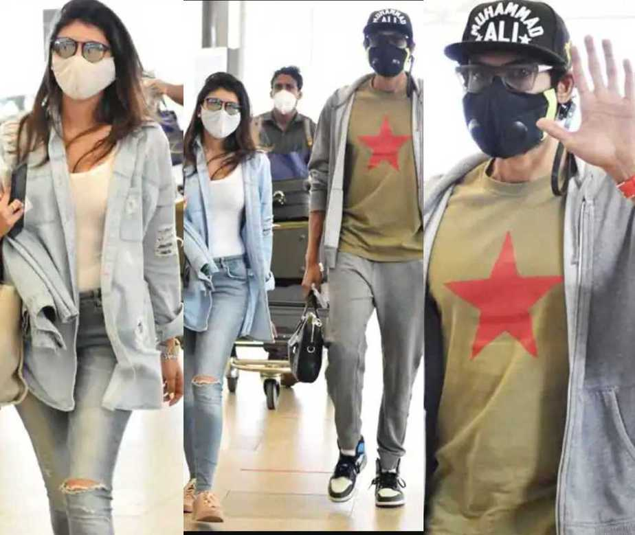 Rana Daggubati and miheeka bajaj on their way to vacation8