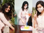 Rasshi Khanna in a peach kurta set for b'day celebrations