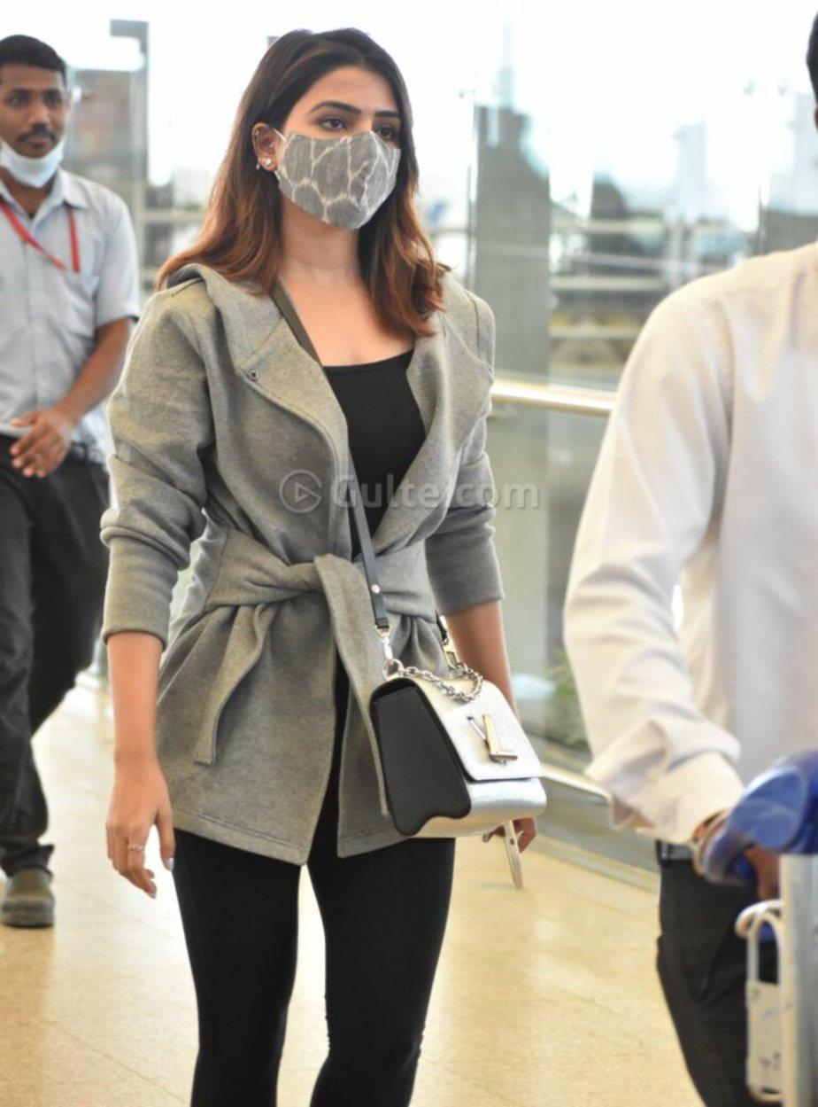 Samantha and Naga Chaitanya in Hyderabad airport for new years eve