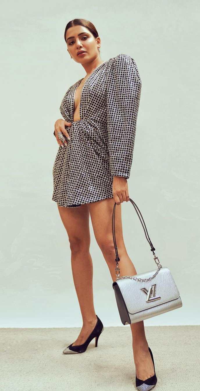Samantha's latest looks-in a daniele carlotta silver sequined mini dress