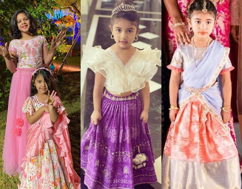 allu arha outfits for niharika konidela wedding