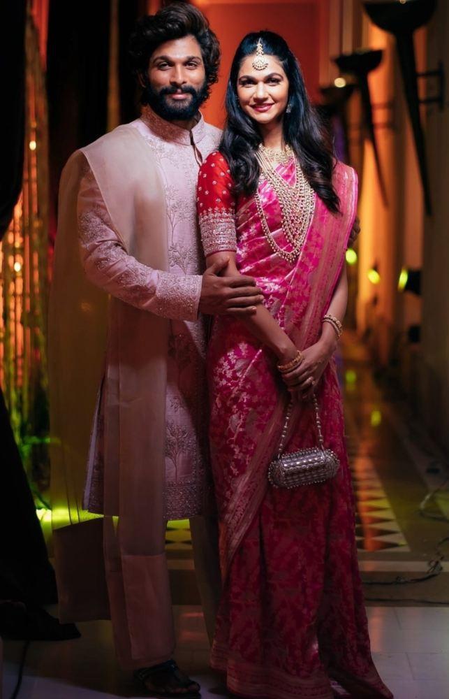 allu arjun and sneha reddy at niharika konidela wedding