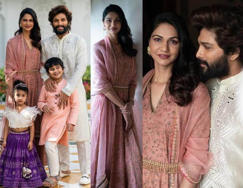allu arjun family at niharika konidela wedding