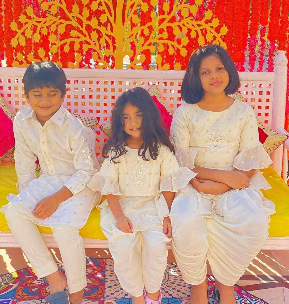 allu family kids at niharika haldi