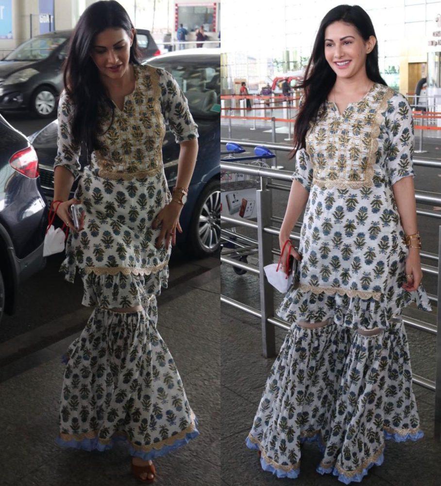 amyra dastur airport indian look