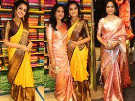 anupama parameswaran and singer sunitha at hyderabad