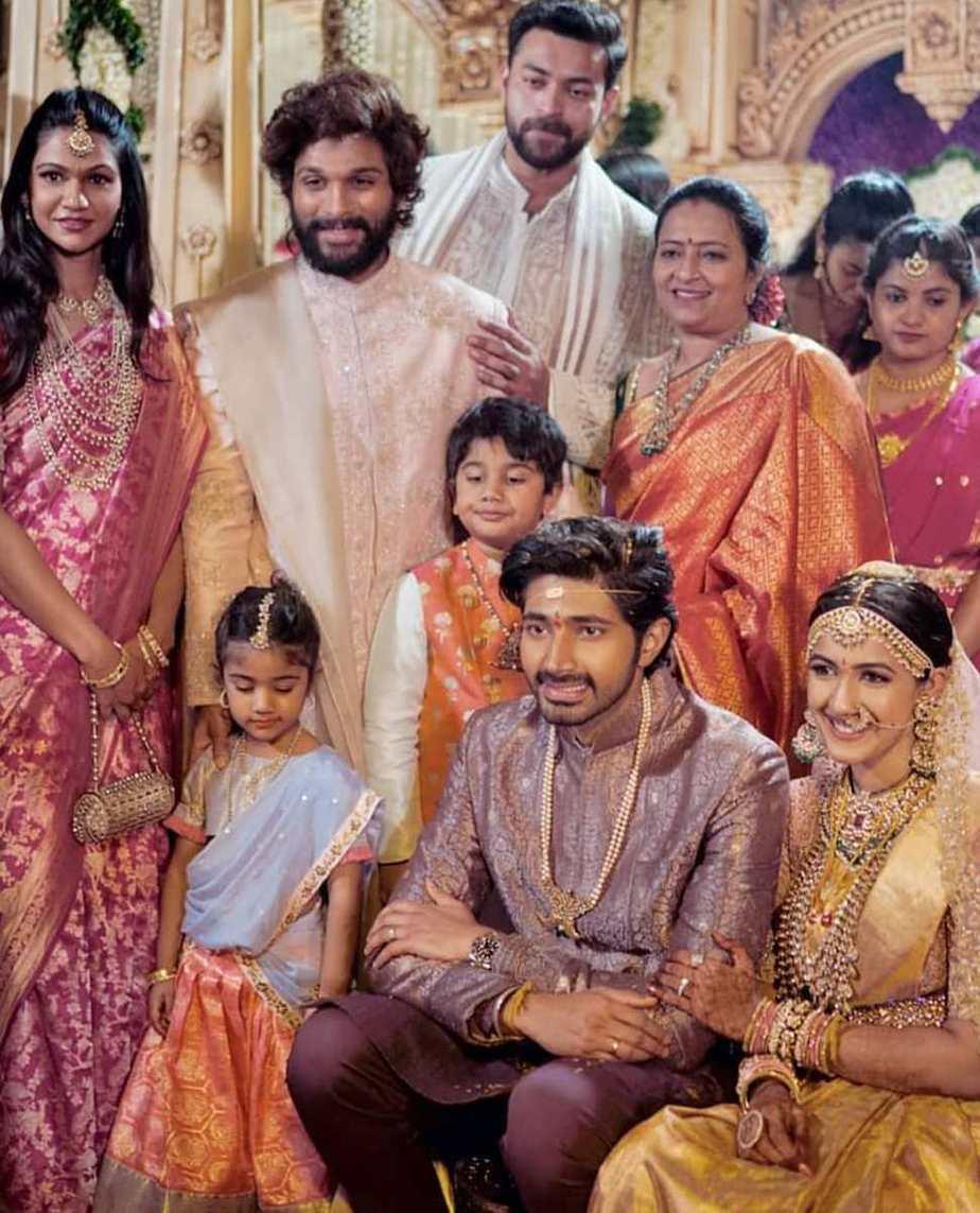 arha allu niharika wedding half saree