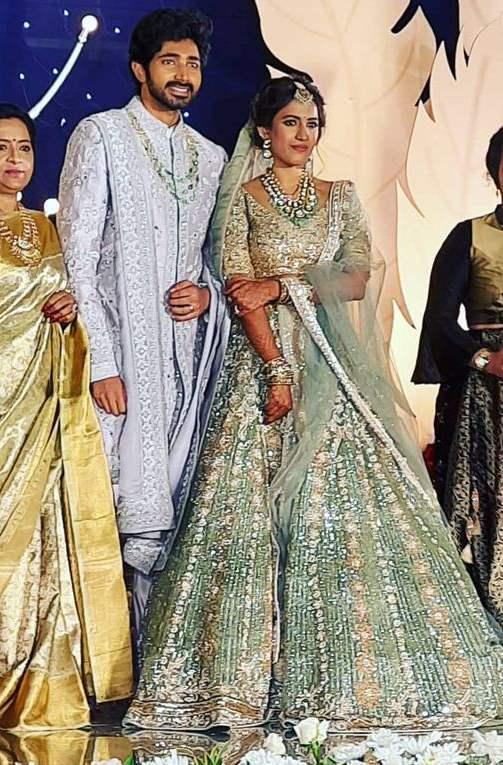 chaithanya and niharika wedding reception photos