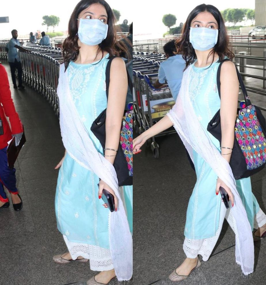 divya khosla kumar airport look.