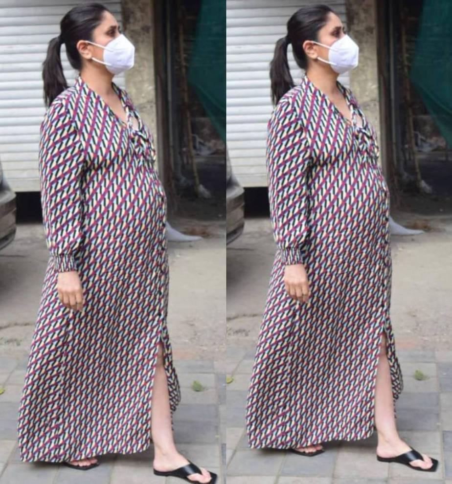 kareena kapoor khan in a color blocked maxi dress