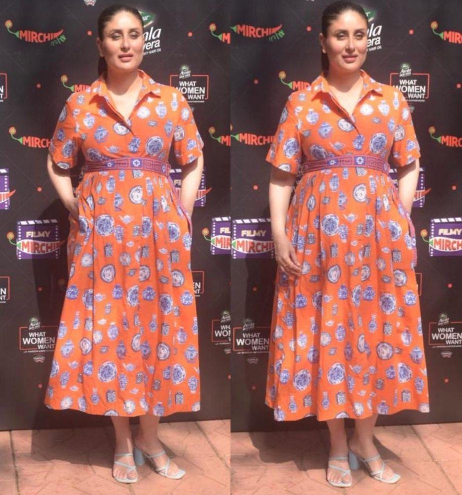 Kareena Kapoor Khan exudes radiance in her orange maxi as ...