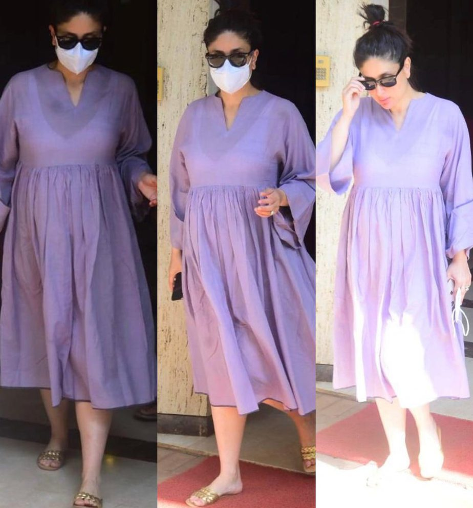 kareena kapoor khan in lavender maternity dress