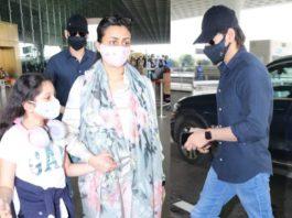 mahesh babu family at airport (3)