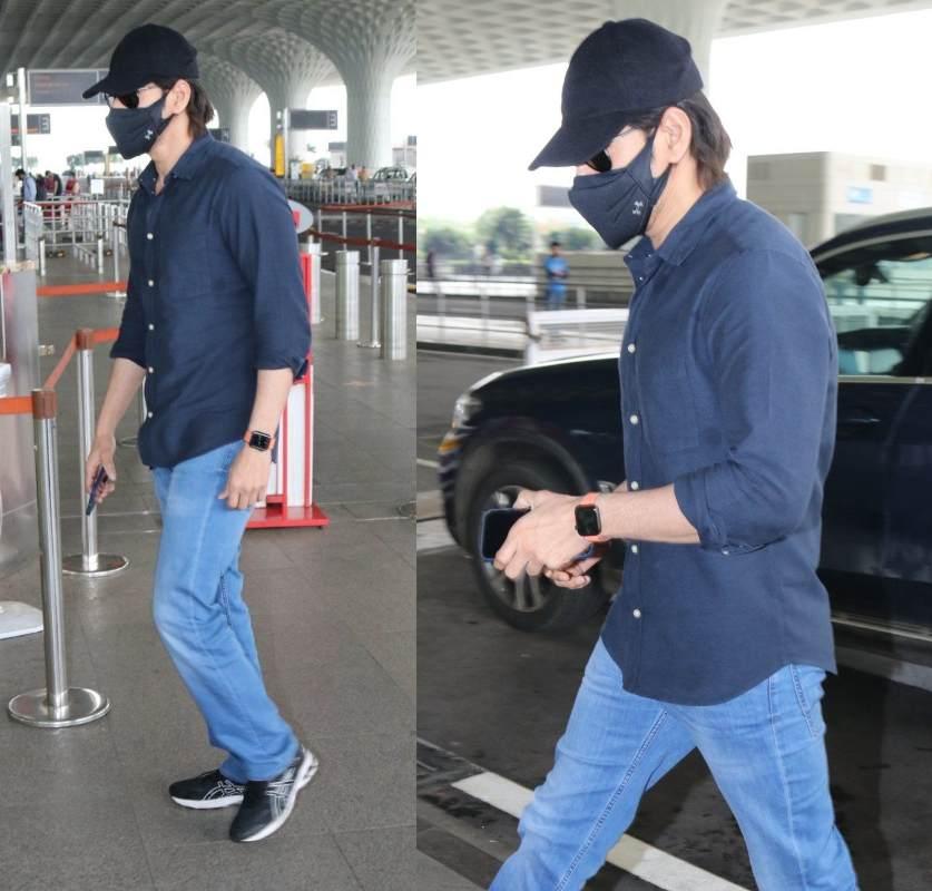 mahesh babu family snapped at airport (2)