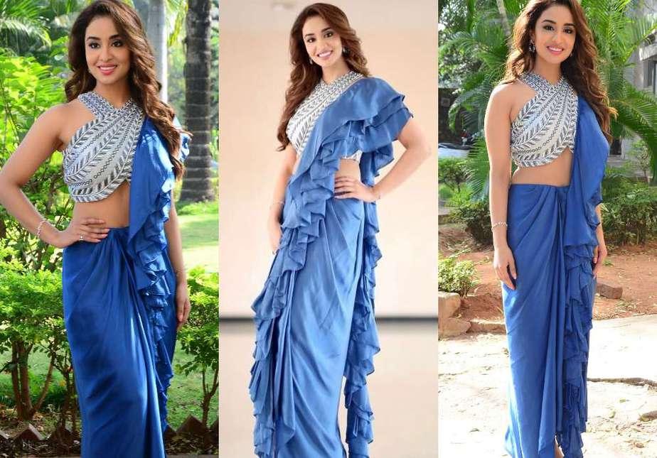 musskan sethi at radha krishna movie trailer launch