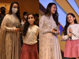 namrata shirodkar and sitara at an event