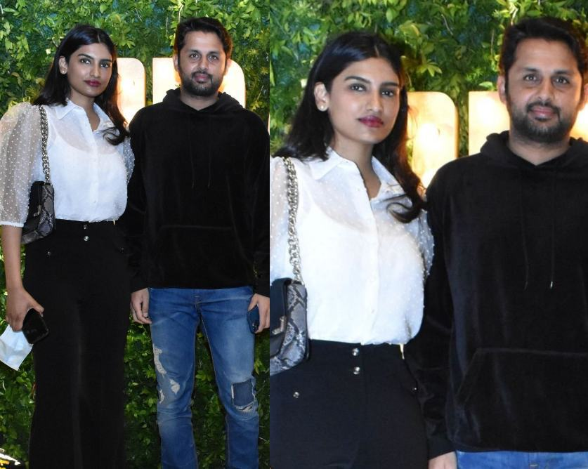 nithiin and shalini at dil raju bday