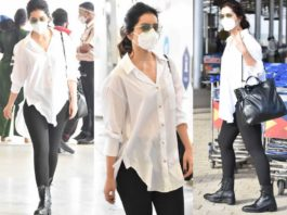 raashi khanna at hyderabad airport