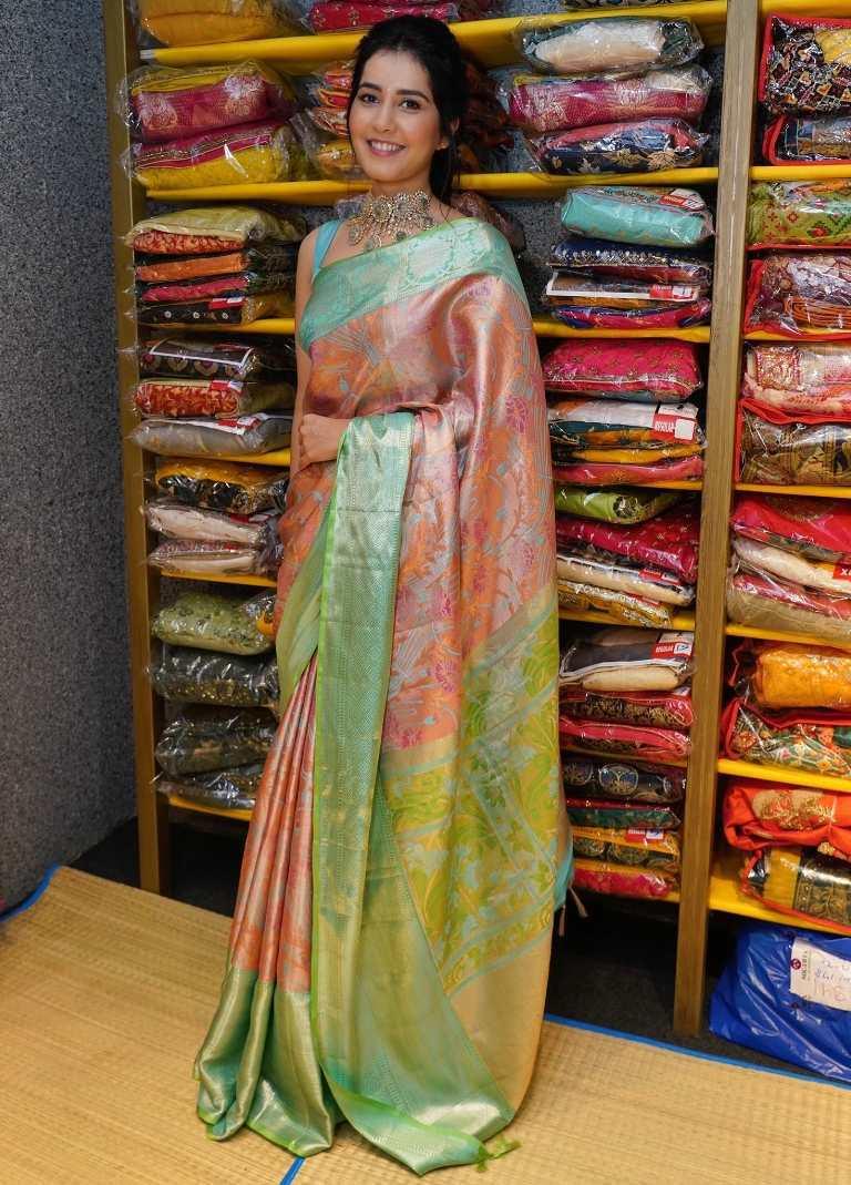 raashi khanna silk saree