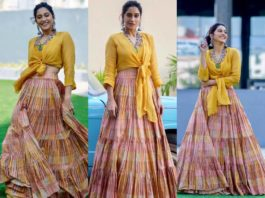 regina cassandra in mustard yellow skirt