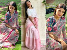 shruthi haasan in saree styled by neeraja kona