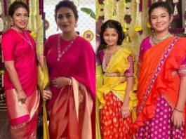 sushmita konidela and her daughters at niharika konidela pellikuthuru function