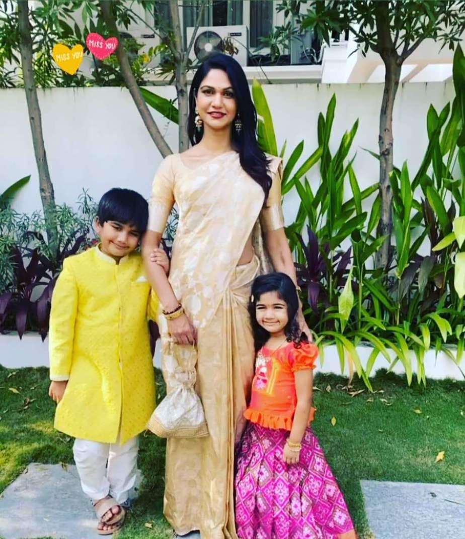 Allu arjun and family sankranti pics