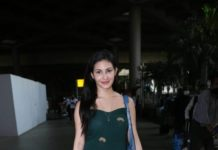 Amyra Dastur in a green outfit in the city2