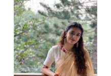 Keerthy suresh in the button thief saree for pongal4
