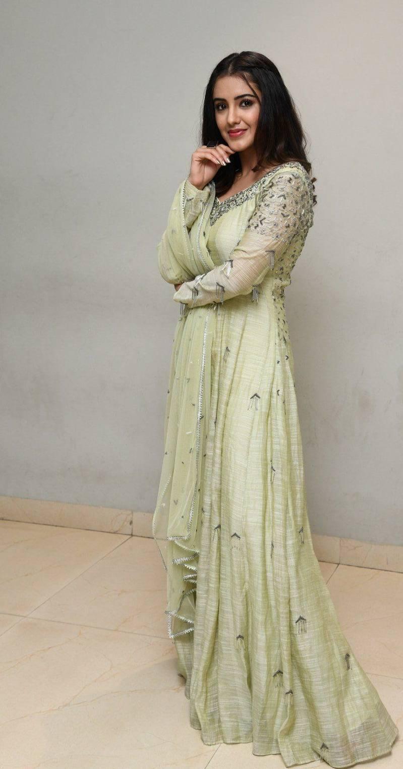 Malvika Sharma in a light green anarkali at my south diva calendar 2021 launch2