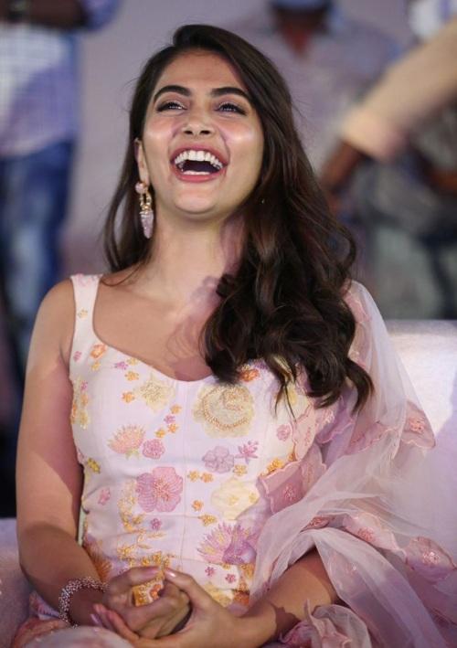 Pooja Hegde in a sharara suit at Ala Vaikunthapurramuloo Reunion Bash! (3)