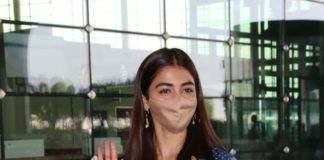 Pooja Hegde in an Anita dongre dress at the Hyderabad airport6