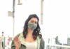 Raashi Khanna in khakhi pants sea weed green jacket at RGI3