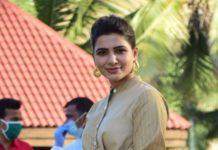 Samantha in notebook ensemble for family man 2 promotions6