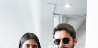 Shalini and Nithiin at Rgi after tirupati visit