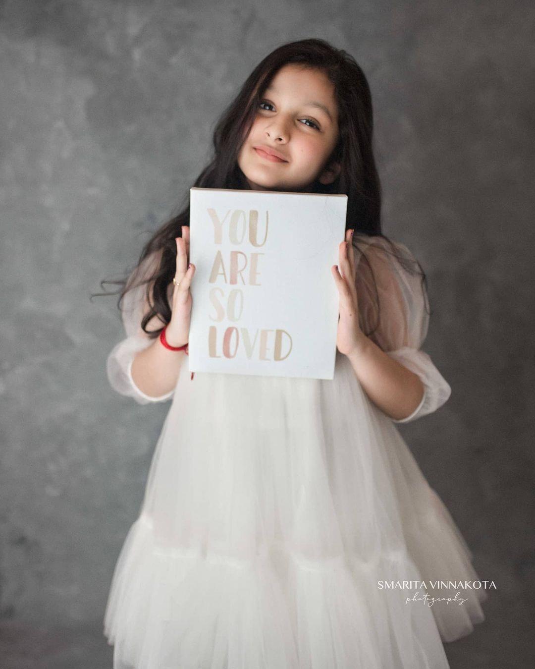 Sitara Ghattamaneni in a white dress by Janya's closet3