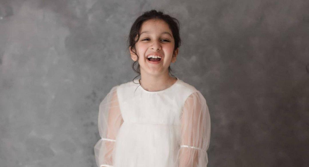 Sitara Ghattamaneni in a white dress by Janya's closet5