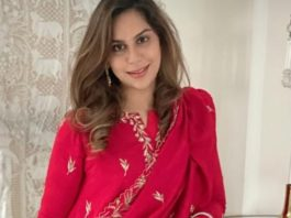 Upasana konidela in red suit by pratyusha garimella for sankranti3