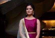 amritha aiyer in maroon skirt at 30 Rojullo Preminchadam Ela movie prerelease event