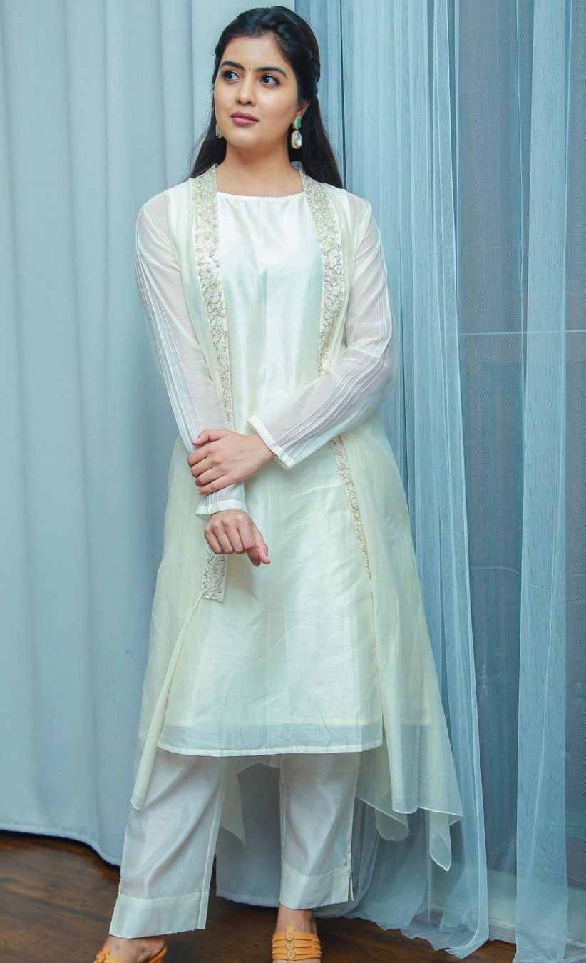 amritha aiyer in pastel hued outfit by Deep Thee