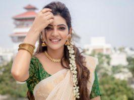 athulya ravi in cream saree for pongal (4)
