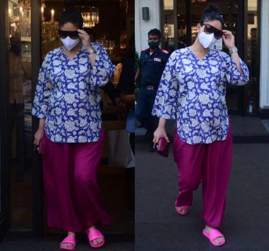 kareena kapoor in comfy pinklay loungewear