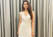 keerthy suresh in white maxi dress