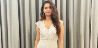 keerthy suresh in white maxi dress