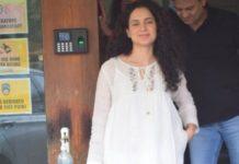 kangana ranaut in all-white dress