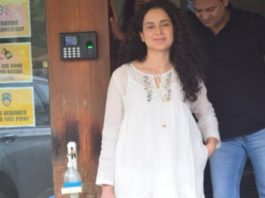 kangana ranaut in all-white dress