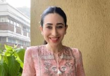 karisma kapoor in anita dongre pink dress