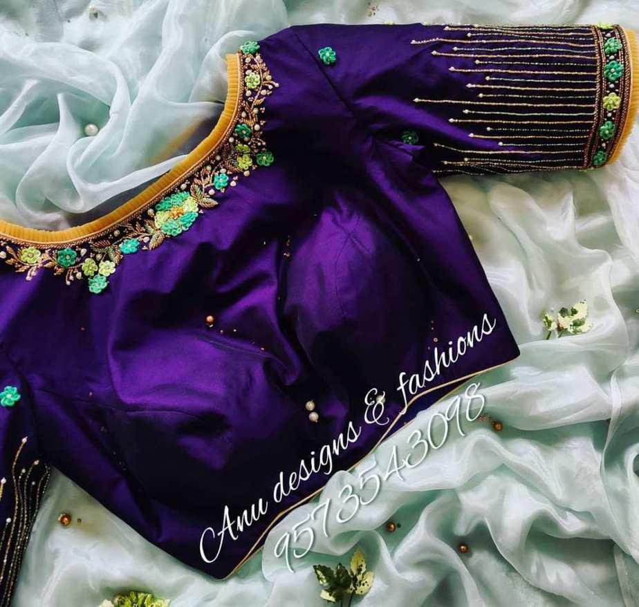 latest silk saree blouse designs for 2021