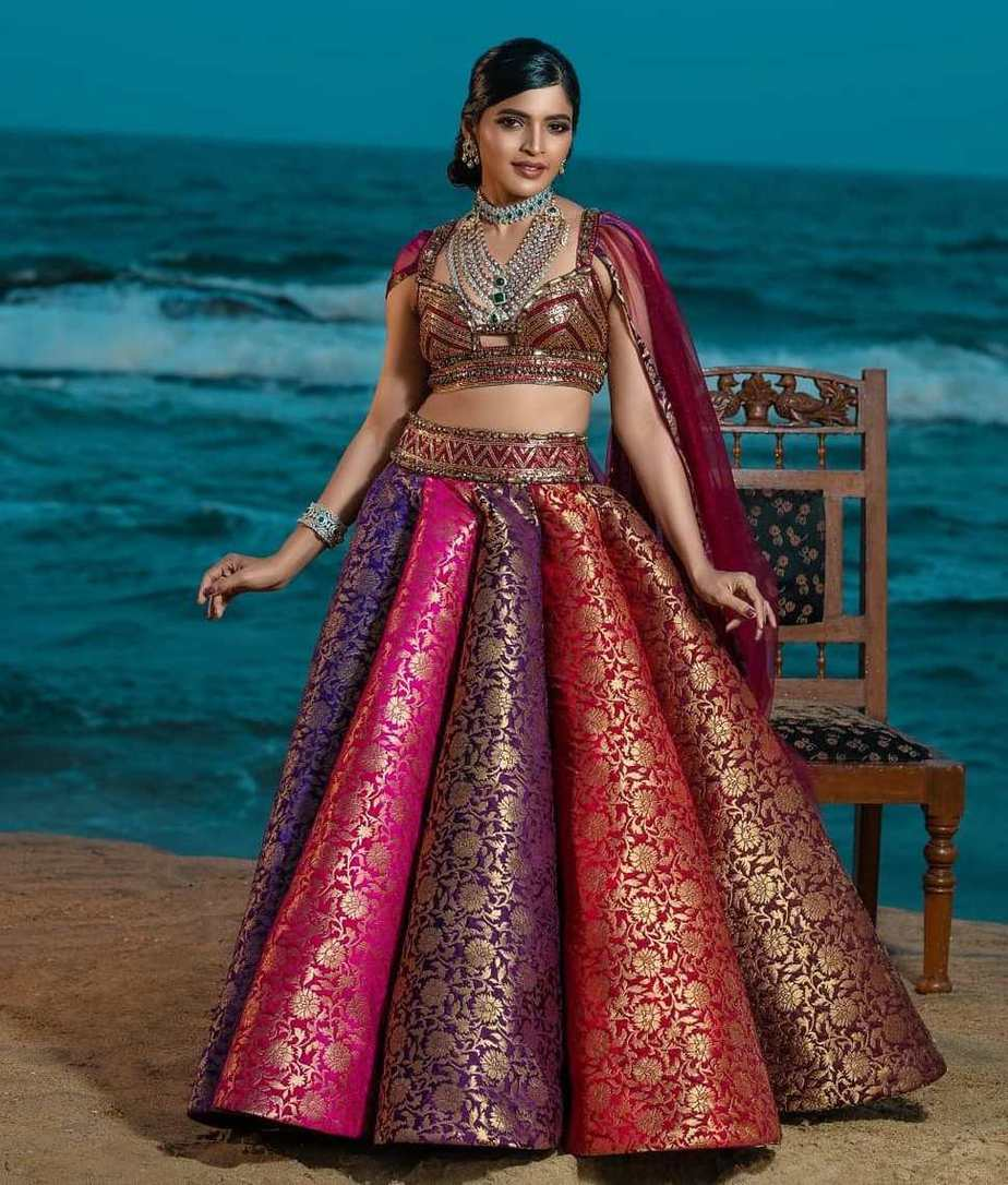 sanchita shetty multicolour lehenga look for class apart studio149 shoot